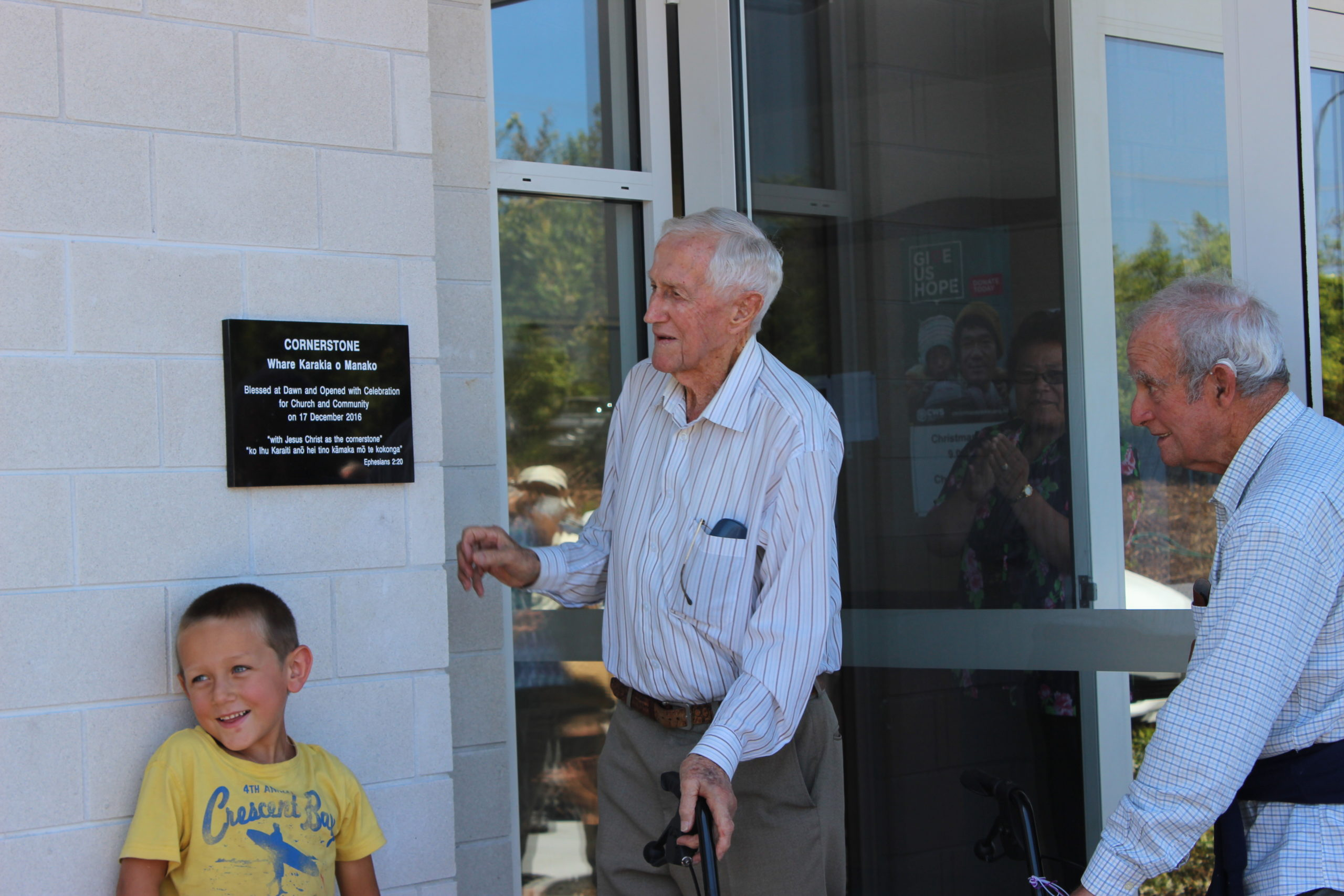 Opening - Reveal of Plaque
